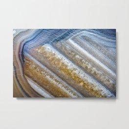 Agate under the Microscope 10-8-18 Metal Print