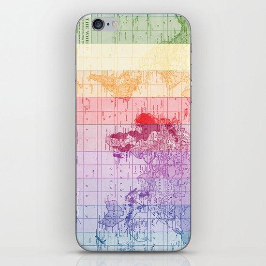 Rainbow World Map iPhone & iPod Skin