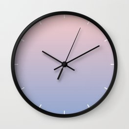 Ombre | Rose Quartz and Serenity | Pantone Colors of the Year 2016 Wall Clock