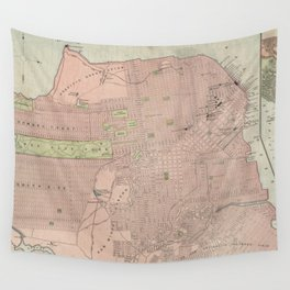 Vintage Map of San Francisco CA (1906) Wall Tapestry