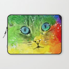 Abstract Bright Cat Laptop Sleeve