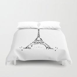 Digital-Art Eiffel Tower Duvet Cover
