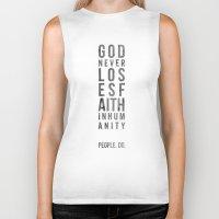 faith Biker Tanks featuring faith by people do.