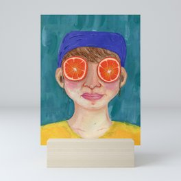 Orange Eyes Mini Art Print