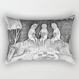 Knitting Cats Rectangular Pillow