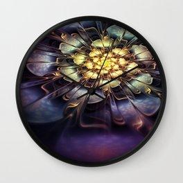 Flower light effect Wall Clock