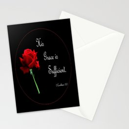 His Grace is Sufficient Stationery Cards