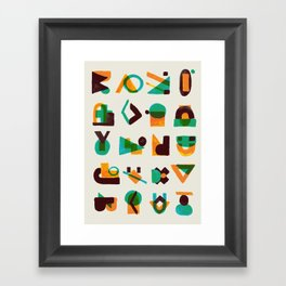 Shape of thoughts Framed Art Print