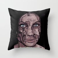 occult Throw Pillows featuring The occult by Joseph Walrave