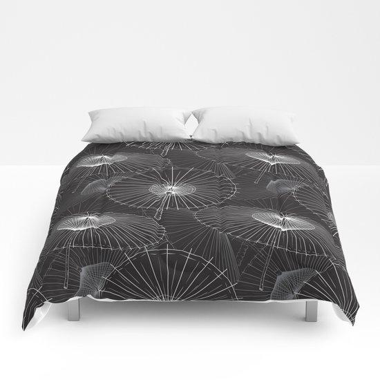 Japanese Umbrella pattern #8 Comforters