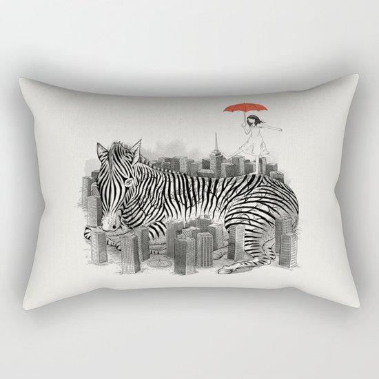 Crossing Zebra Rectangular Pillow