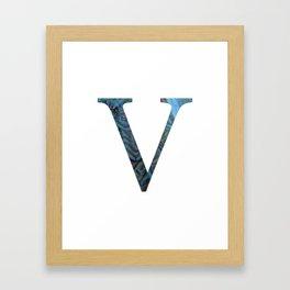"""Initial letter """"V"""" Framed Art Print"""