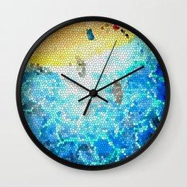 Abstract Beach Aerial Wall Clock