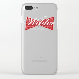 Funny Welder Gift King of Trades Design Clear iPhone Case