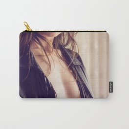 half nude rock girl Carry-All Pouch