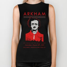 ARKHAM Goth Club: 4-Year Anniversary (Black Version) Biker Tank