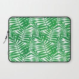 Tropical Leaf Print Laptop Sleeve