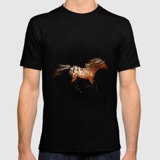 HORSE - An Appaloosa called Ginger Mens Fitted Tee Black MEDIUM