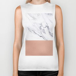 Marble Rose Gold Luxury iPhone Case and Throw Pillow Design Biker Tank