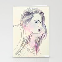 cara Stationery Cards featuring Cara by Guadalupe Jiménez