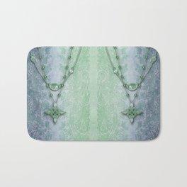 ABIGAIL'S LACE: BLUE GREEN DREAM Bath Mat