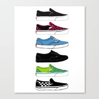 vans Canvas Prints featuring Vans by Deborah Gruber