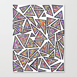 triangles (six) Canvas Print