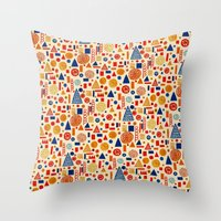 child Throw Pillows featuring Sunday's Child by Marcelo Romero