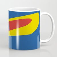 cyclops Mugs featuring Cyclops by Adam Grey