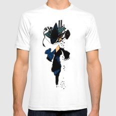 shopping queen White SMALL Mens Fitted Tee