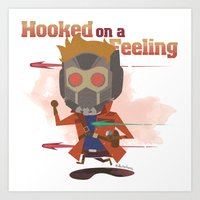 starlord Art Prints featuring STARLORD by Doctor Keros