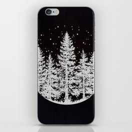 Trees in a Winter Forest iPhone Skin