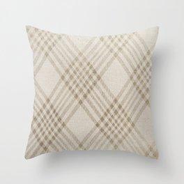 Rich Beige Throw Pillow