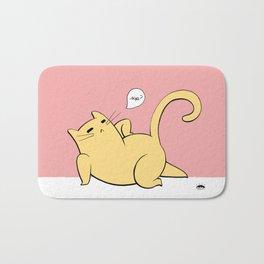 Cat Pinup - Yellow Bath Mat