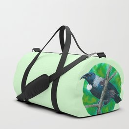 New Zealand Tui - Painting in acrylic Duffle Bag