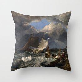 Calais Pier J. M. W. Turner Throw Pillow