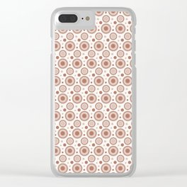 Sherwin Williams Cavern Clay Polka Dots and Circles Pattern on White Clear iPhone Case