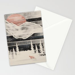 Mountain Lion at Midnight... Stationery Cards