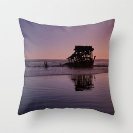 Peter Iredale Shipwreck at Fort Stevens State Park, Oregon. 2 Throw Pillow