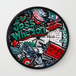 I heart Joss Whedon Wall Clock