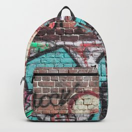 Wall With Street Grafitti Backpack