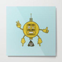 Emojibot Metal Print