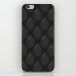 Black abstract luxury quilted pattern iPhone Skin