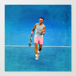 Rafael Nadal Fist Pump Canvas Print