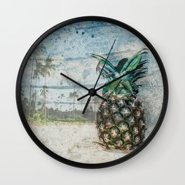Pineapple Dreams Wall Clock