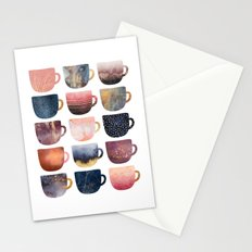 Pretty Coffee Cups 2 Stationery Cards