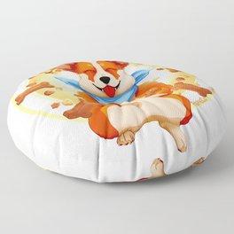 Zen corgi Floor Pillow