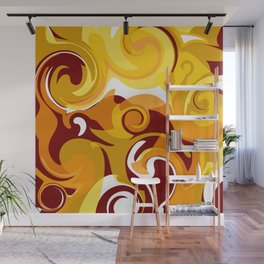 Hot Lava Swirls Wall Mural