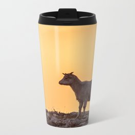 Goat baby sunset E5-5789 Metal Travel Mug
