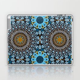 Calligraphic Boho (Blue) Laptop & iPad Skin